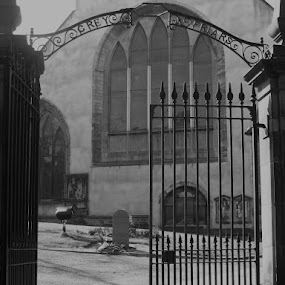 here lies Greyfriars Bobby  by Paul Rayney - Buildings & Architecture Places of Worship ( edinburgh, church, greyfriars, bobby, gates )