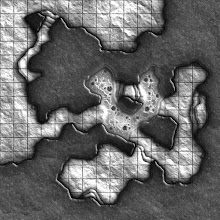 Photo: Here's the last of the 'cave-corner' style geomorphs (the final 3 of the year will revert back to the more usual style):  #map-a-monday