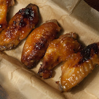 Grilled Chicken Wings with Spicy Pineapple Glaze.