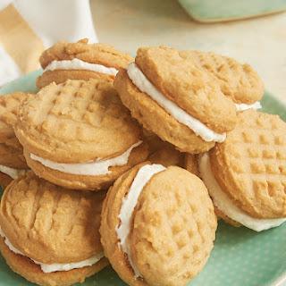 Peanut Butter Marshmallow Sandwich Cookies.