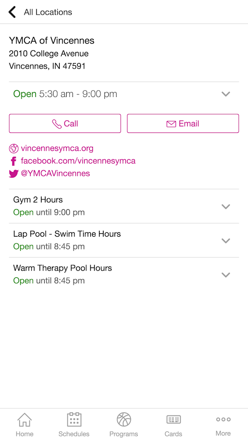 YMCA of Vincennes- screenshot