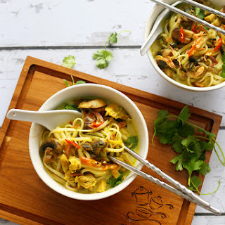 Linguine In Lemongrass And Coconut Broth.