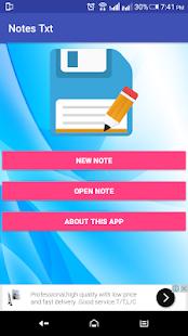 Notes Txt - náhled