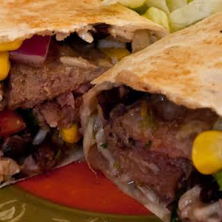 Southwest Bison Steak Wrap.