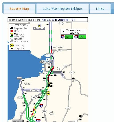 Wsdot Seattle Traffic Map Seattle Area Traffic