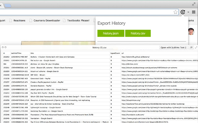 export history