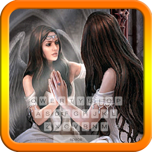 Angel in Mirror Keyboard Theme Free Themes