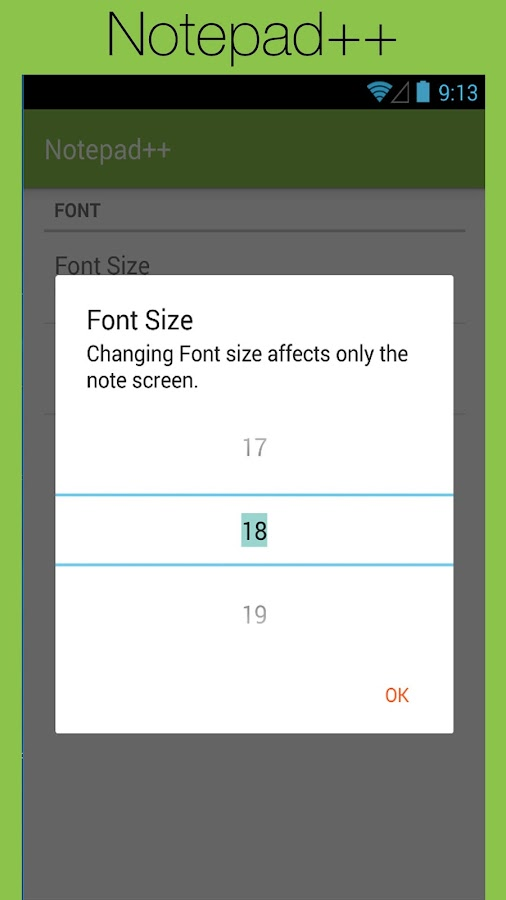 Notepad++ for Android- screenshot