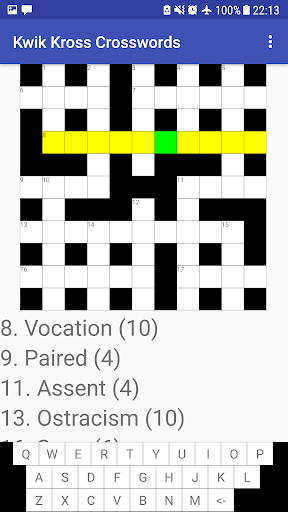Kwik Kross Crosswords 1.0 screenshots 4