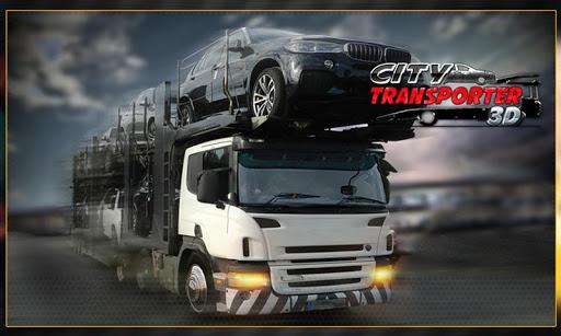 現代車の輸送トレーラー