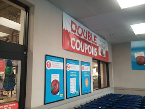 Photo: My wife was excited about double coupons, of course.