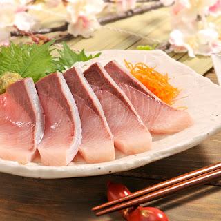 Yellowtail Sashimi with Wasabi Sea Salt