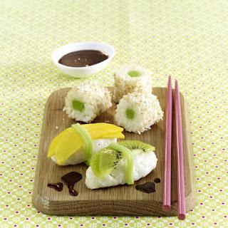 "Marzipan Coconut ""Sushi""."