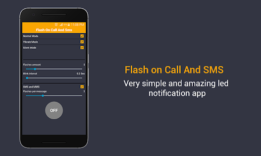 Flash on Call & SMS - náhled