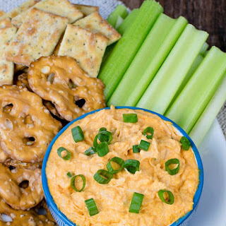 Easy Buffalo Chicken Dip.