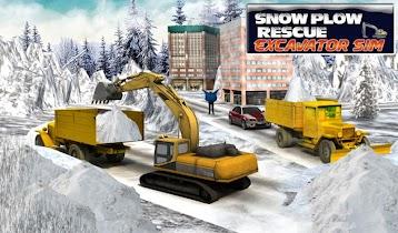 Winter Snow Rescue Excavator - screenshot thumbnail 17