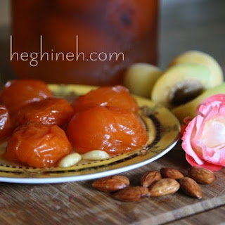 Apricot Preserves with Almonds and Rose Syrup Recipe