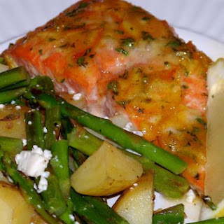 Orange and Thyme Glazed Salmon Filets