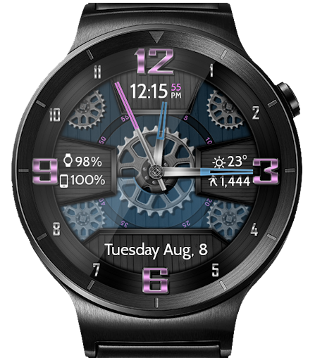 [2021] Wooden Gears HD Watch Face Widget & Live Wallpaper