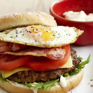 Beef Burgers with Fried Egg