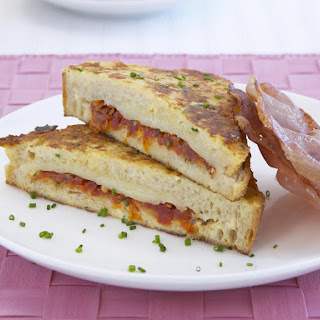 Tomato and Cheese Stuffed French Toast