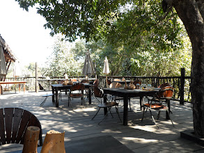 Photo: The dining room deck which is lovely at all times.