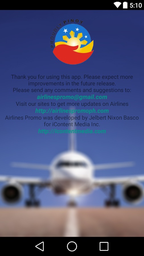 Airlines Promo- screenshot