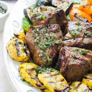 Mint Chimichurri Lamb Chops.