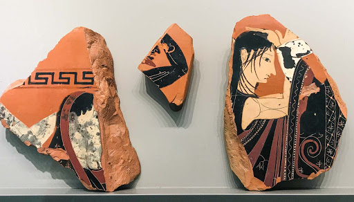 Clay-tablets.jpg - Clay tablets from a tomb in Athens by Exekias, the most famous vase painter of the era, dating to 540 B.C.
