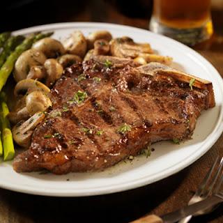 T-bone Steaks with Mushrooms