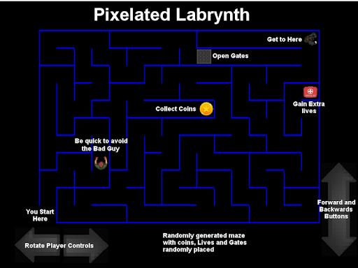 Pixelated Labrynth screenshot 5