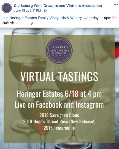 virtual wine tasting fb event