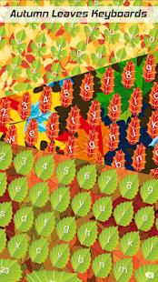 Podzimní listy klávesnice - náhled