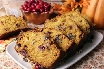 Thea's Cranberry Pumpkin Bread Recipe