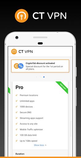 CryptoTab VPN - unlimited access to global net