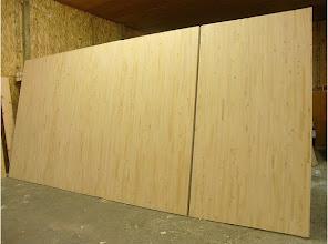 Photo: Sing Core's Honeycomb Torsion Box Over sized industrial door and sliding door combo