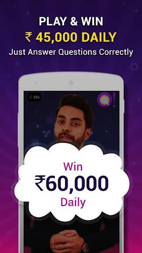 Qureka: Play Live Trivia Game Show & Win Cash 1.0.33 screenshots 1