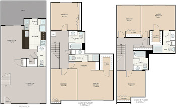 Go to South Hampton (Washer/Dryer) Floorplan page.