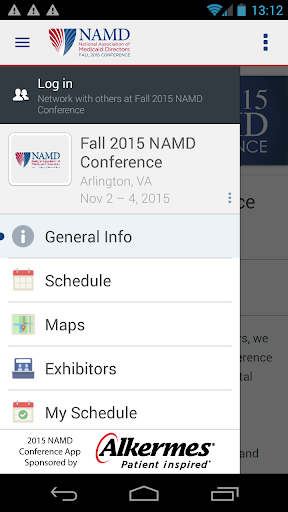 Fall 2015 NAMD Conference App