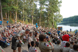Photo: Around 500 scouts; 130 adults