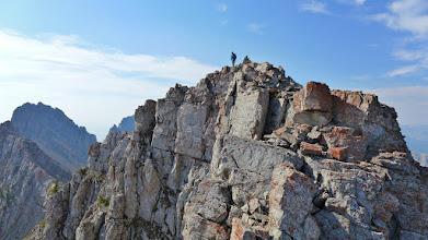 Photo: On north summit of Sawtooth Ridge.