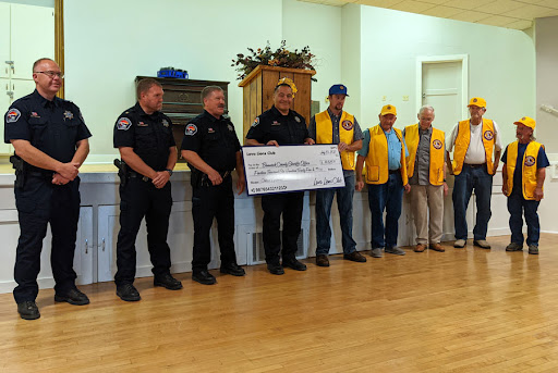 Struggling Lava Lions Club donates $15K to local sheriff's office