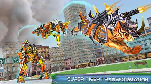 Futuristic Robot Tiger Real Robot Transformation filehippodl screenshot 11