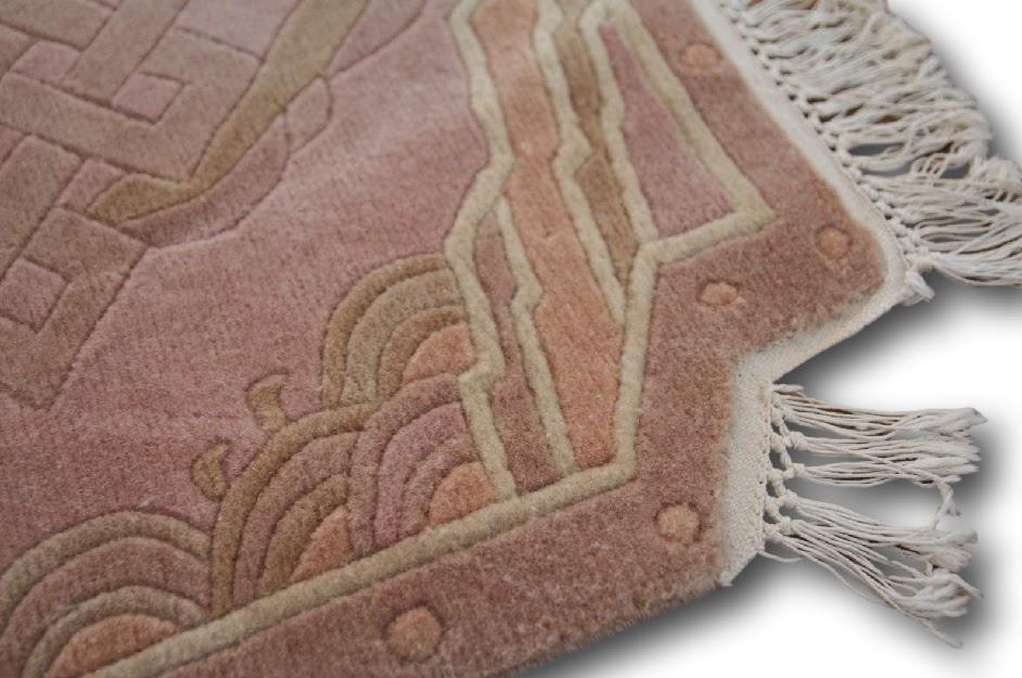 rzeźbiony nowoczesny dywan ręcznie tkany indyjski nepalski 70x70cm