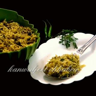 Coriander Peas Pulao / Green Rice