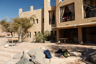Photo: Feinan Lodge was at the end of the trail. We took a break and hiked back to Dana Village