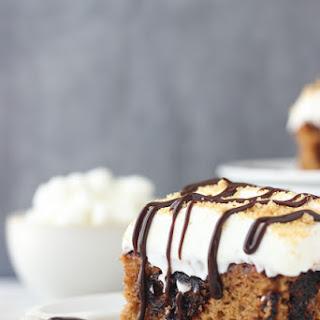 Pumpkin S'mores Poke Cake