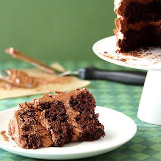 Mini Layered Guinness Cake with Irish Cream Ganache Frosting Recipe