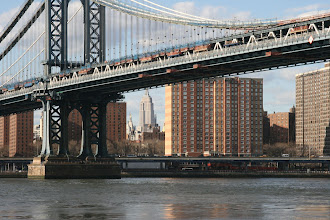 Photo: Across the East River in Manhattan...