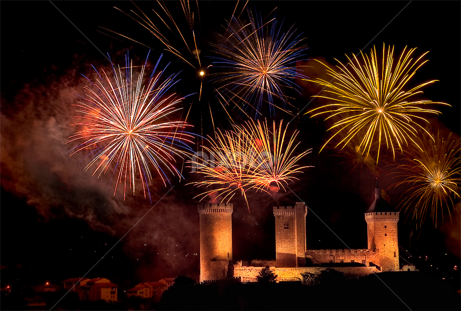 Foix Celebration 1 by Paul Atcliffe - Abstract Fire & Fireworks ( pwcfireworks )